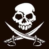 Cranio e spade attraversate royalty illustrazione gratis