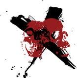 Cranio e X Immagine Stock