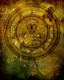 Cranio ed illustrazione dell'emblema di Crossbones Immagine Stock Libera da Diritti