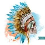 Cranio etnico illustrazione vettoriale