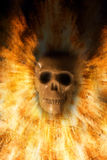 Cranio, fondo di Halloween Immagine Stock Libera da Diritti