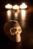 Cranio, fondo di Halloween Fotografia Stock Libera da Diritti