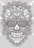 Cranio - giorno dei morti Immagini Stock Libere da Diritti