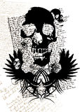 Cranio gotico illustrazione vettoriale