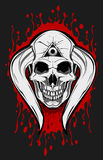 Cranio Horn del diavolo Fotografia Stock