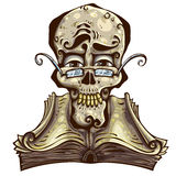 Cranio intelligente. illustrazione vettoriale
