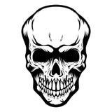 Cranio isolato su fondo bianco Progetti l'elemento per il manifesto, la carta, la maglietta, emblema royalty illustrazione gratis