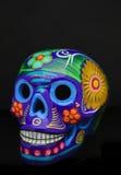 Cranio messicano tradizionale dipinto a mano dello zucchero Immagini Stock