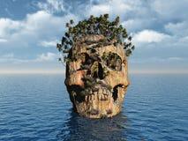 Cranio molto vecchio Fotografia Stock Libera da Diritti