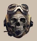 Cranio nel casco pilota Stampa della maglietta royalty illustrazione gratis