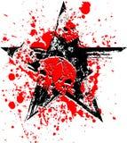 Cranio nero rosso della stella Fotografie Stock Libere da Diritti