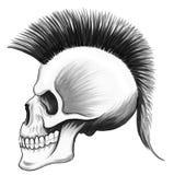 Cranio punk morto Immagini Stock