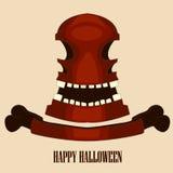 Cranio rosso Halloween Illustrazione di vettore Immagine Stock