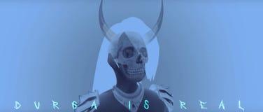 Cranio scuro Durga Kahli BadGirl Horn royalty illustrazione gratis