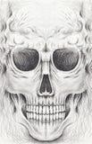 Cranio sorridente del fronte di arte Fotografia Stock
