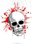 Cranio spaventoso illustrazione di stock