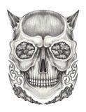 Cranio surreale del diavolo di arte Fotografia Stock