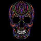 Cranio umano colorato divertente astratto Fotografia Stock
