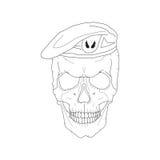 Cranio in un berretto Immagini Stock