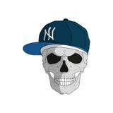 Cranio in uno stile del rapper Fotografie Stock Libere da Diritti