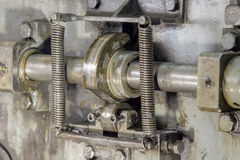 Crank camshaft. Royalty Free Stock Photo