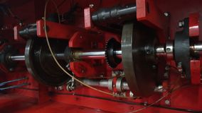 Crank shaft. The cam shaft is driven by the thrust of the crank shaft. Transmitted by the force of rotation with the tongue Stock Images