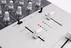 Crank It Up. Industrial Recording Mixer Volume Knobs Royalty Free Stock Photo