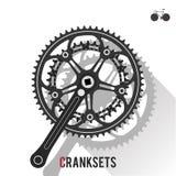 Cranksets. On White background, flat design Royalty Free Stock Photos