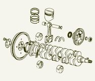 Crankshaft assembly Royalty Free Stock Images