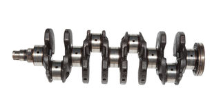 Crankshaft in cars with 200,000 miles Royalty Free Stock Image
