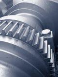 Crankshaft with cogwheel. Heavy metal series royalty free stock photo