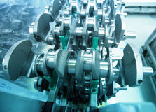 Crankshaft in engine workshop Royalty Free Stock Photography