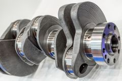 Crankshaft of an internal combustion engine. Main part of the automobile engine royalty free stock photo