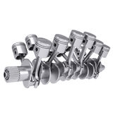 Crankshaft and pistons Royalty Free Stock Images