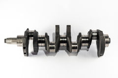 Crankshaft. The crankshaft that transmits the power of the combustion engine Stock Images