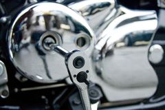 crankshaftmotorcykel Royaltyfri Foto