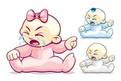 Cranky and Crying royalty free illustration