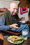Cranky Elderly Man Stock Photography