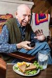 Cranky Elderly Man Stock Photography