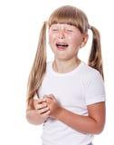 Cranky girl crying Stock Image