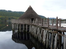 A Crannog on Loch Tay royalty free stock image