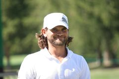 crans edfors高尔夫球johan掌握蒙大拿 免版税库存图片