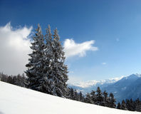 Crans montana. The famous skiing place in the swiss alps Royalty Free Stock Image