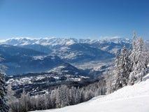 Crans montana Stock Image