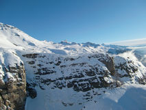 Crans Montana Berge Stockbild