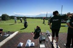 cransgolf styrer den montana övningspersonalen Arkivbild