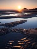 crantock пляжа стоковые изображения rf