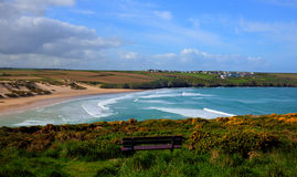 Crantock bay and beach North Cornwall England UK near Newquay Royalty Free Stock Photo