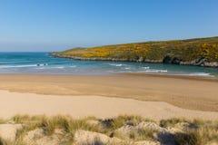 Crantock beach coast of North Cornwall England UK near Newquay Stock Images
