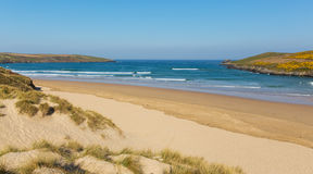 Crantock beach North Cornwall England UK near Newquay Stock Photos
